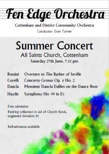Summer Concert (June 2015) poster